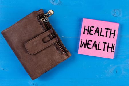 Conceptual hand writing showing Health Wealth. Concept meaning health is the most valuable and precious for every individual