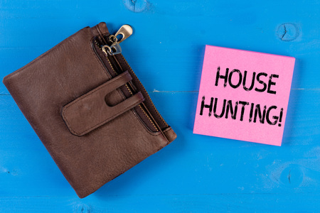 Conceptual hand writing showing House Hunting. Concept meaning the act of searching or looking for a house to buy or rent