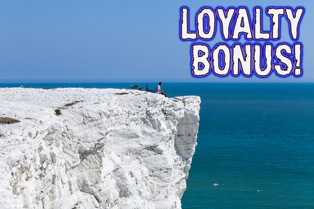 Text sign showing Loyalty Bonus. Business photo text reward such as money or points is given for a loyal customer