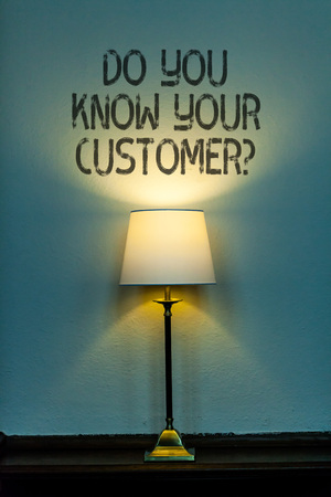 Conceptual hand writing showing Do You Know Your Customer Question. Concept meaning service identify clients with relevant information