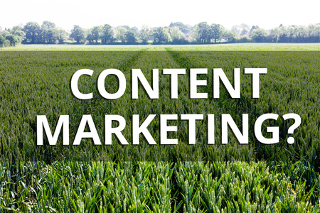 Handwriting text Content Marketing question. Conceptual photo involves creation and sharing of online material 版權商用圖片