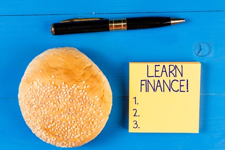 Handwriting text Learn Finance. Conceptual photo study which figures out how showing and business uses money