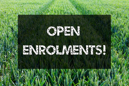 Word writing text Open Enrolments. Business photo showcasing when employees may make changes to elected fringe benefit