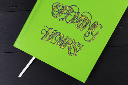 Conceptual hand writing showing Opening Hours. Concept meaning the time during which a business is open for customers