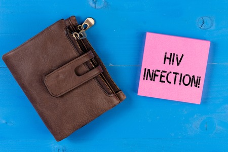 Conceptual hand writing showing Hiv Infection. Concept meaning sexually transmitted infection and a chronic disease Stock Photo