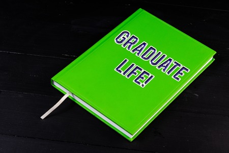 Handwriting text Graduate Life. Conceptual photo condition or a status a demonstrating after finishing academic degree