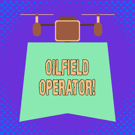 Conceptual hand writing showing Oilfield Operator. Concept meaning responsible for optimizing production of the oil wells 版權商用圖片