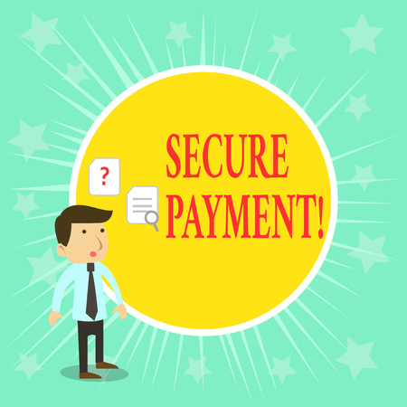 Word writing text Secure Payment. Business photo showcasing webpage where credit card numbers are entered is secured Foto de archivo