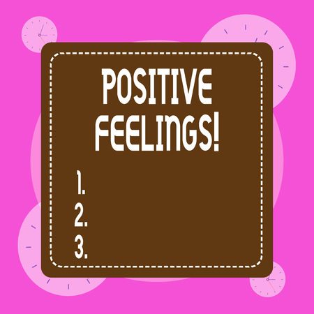 Conceptual hand writing showing Positive Feelings. Concept meaning any feeling where there is a lack of negativity or sadness