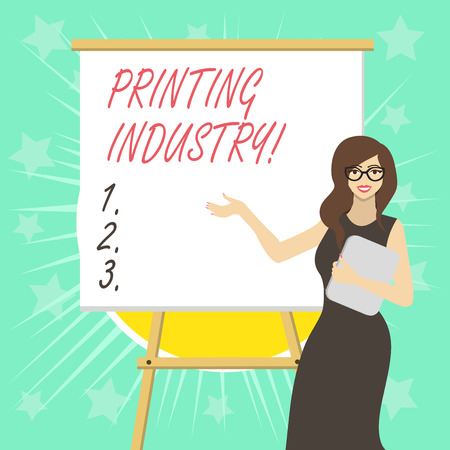 Text sign showing Printing Industry. Business photo text industry involved in production of printed matter Stockfoto