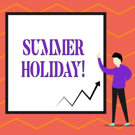 Writing note showing Summer Holiday. Business concept for Vacation during the summer season School holiday or break