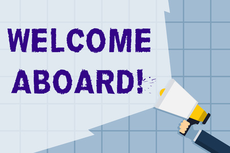 Conceptual hand writing showing Welcome Aboard  Concept meaning