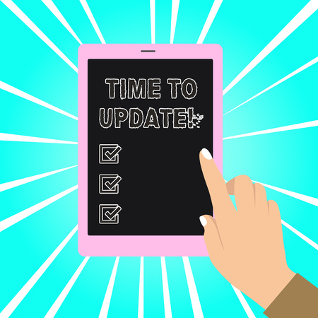 Writing note showing Time To Update. Business concept for act updating something someone or updated version program Reklamní fotografie
