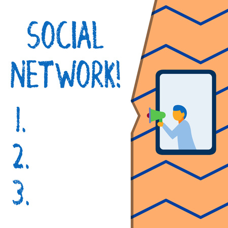 Conceptual hand writing showing Social Network. Concept meaning a network of social interactions and demonstratingal relationships