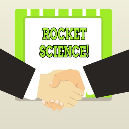 Handwriting text Rocket Science. Conceptual photo difficult activity that you need to be intelligent to do