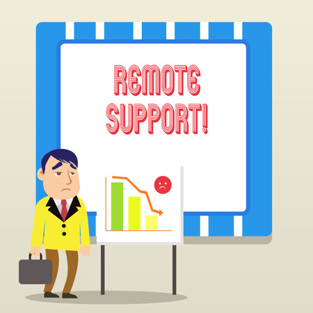 Word writing text Remote Support. Business photo showcasing help endusers to solve computer problems and issues remotely