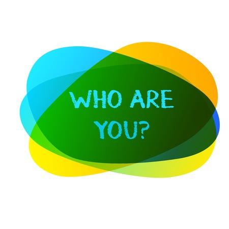 Escritura a mano conceptual mostrando quién eres tú pregunta. Concepto Significado preguntar demostrando identidad o demostrando información Foto de archivo