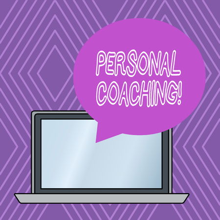 Writing note showing Personal Coaching. Business concept for relationship agreement between a client and a coach Reklamní fotografie - 122550326