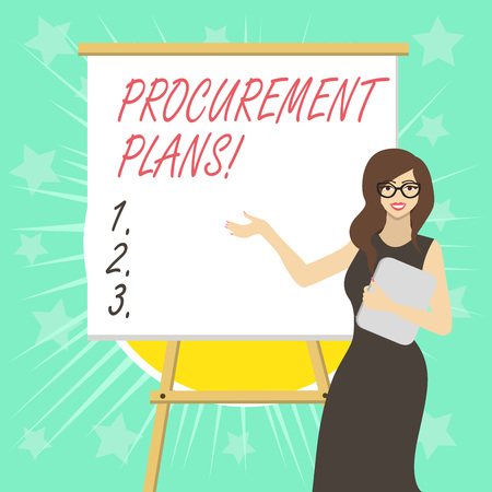 Text sign showing Procurement Plans. Business photo text determining the timeframes for their procurement 写真素材