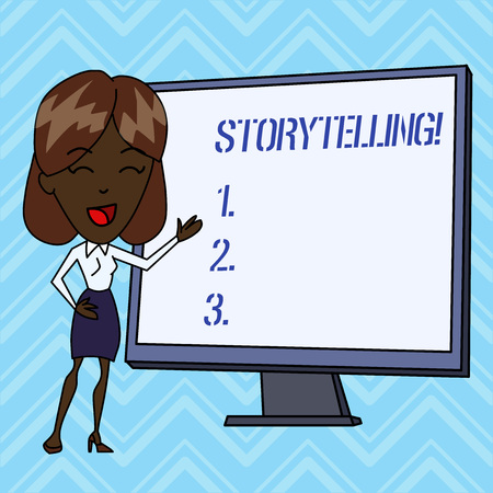 Handwriting text writing Storytelling. Conceptual photo activity writing stories for publishing them to public