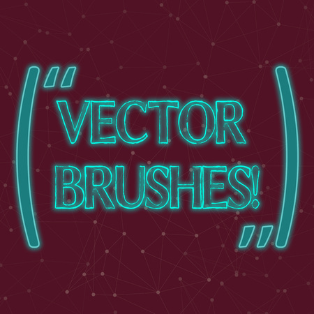 Text sign showing photo Brushes. Business photo showcasing Applied to path and use to create realistic hand drawn effect Seamless Digital Array of Nodes with Connecting Lines Forming Uneven Grid Stock Photo