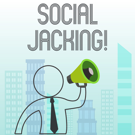 Text sign showing Social Jacking. Business photo text Spiteful method tricking the user to click vulnerable buttons