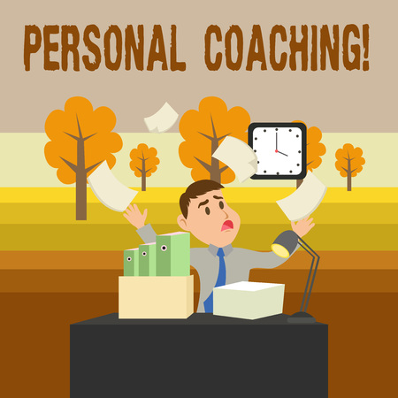 Conceptual hand writing showing Personal Coaching. Concept meaning relationship agreement between a client and a coach