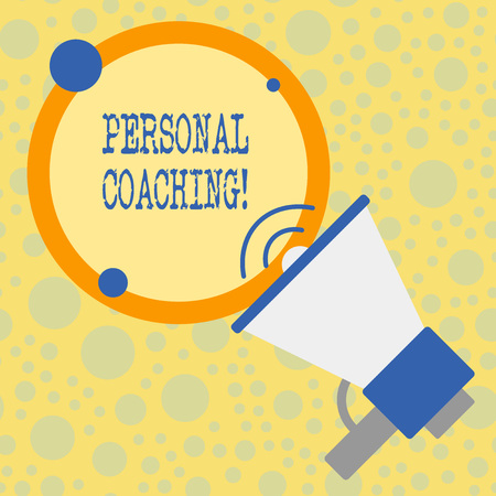 Text sign showing Personal Coaching. Business photo text relationship agreement between a client and a coach