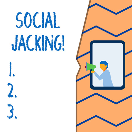 Conceptual hand writing showing Social Jacking. Concept meaning Spiteful method tricking the user to click vulnerable buttons