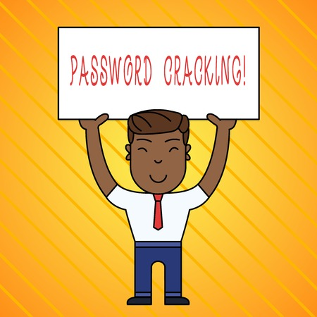 Word writing text Password Cracking. Business photo showcasing measures used to discover computer passwords from data Foto de archivo