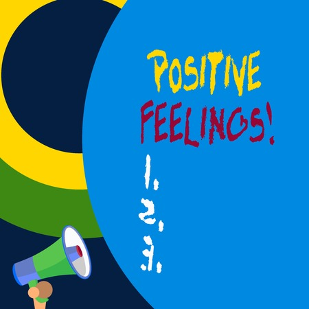 Handwriting text writing Positive Feelings. Conceptual photo any feeling where there is a lack of negativity or sadness