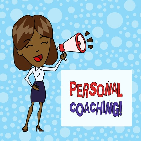 Word writing text Personal Coaching. Business photo showcasing relationship agreement between a client and a coach Banco de Imagens - 122552463