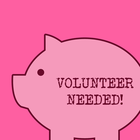 Text sign showing Volunteer Needed. Business photo text need work for organization without being paid Imagens