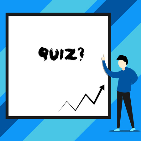 Text sign showing Quiz Question. Business photo text test of knowledge as competition between individuals or teams Banco de Imagens