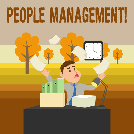 Conceptual hand writing showing People Management. Concept meaning process of unlocking and channelling employees potential