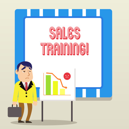 Word writing text Sales Training. Business photo showcasing train salesshowing the methods of great sales techniques