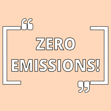 Writing note showing Zero Emissions. Business concept for emits no waste products that pollute the environment Shade of Pale Pink for Invitation or Announcement with Feminine Theme