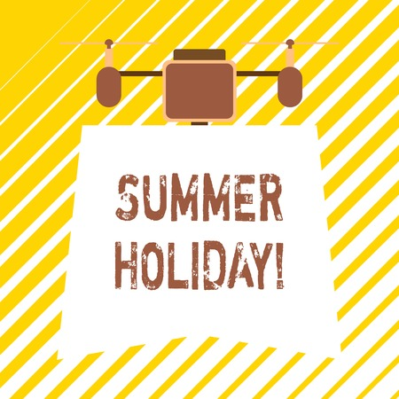 Handwriting text writing Summer Holiday. Conceptual photo Vacation during the summer season School holiday or break Zdjęcie Seryjne - 122568870