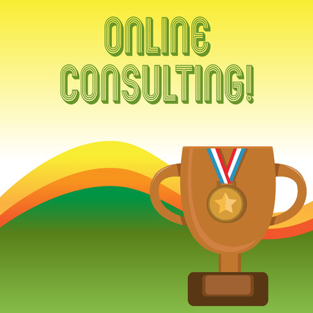 Text sign showing Online Consulting. Business photo showcasing get information or advice from a demonstrating through internet Banco de Imagens