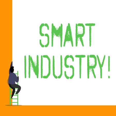 Word writing text Smart Industry. Business photo showcasing the print publication and online information resource