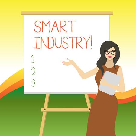 Writing note showing Smart Industry. Business concept for the print publication and online information resource