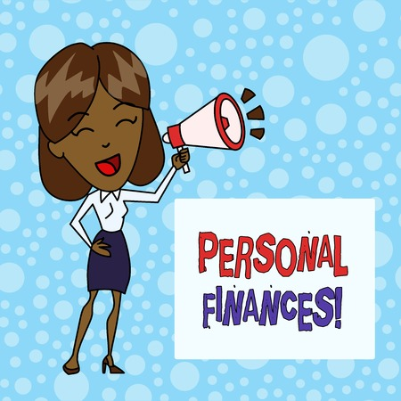 Word writing text Personal Finances. Business photo showcasing the activity of analysis own money and financial decisions