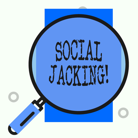 Text sign showing Social Jacking. Business photo showcasing Spiteful method tricking the user to click vulnerable buttons