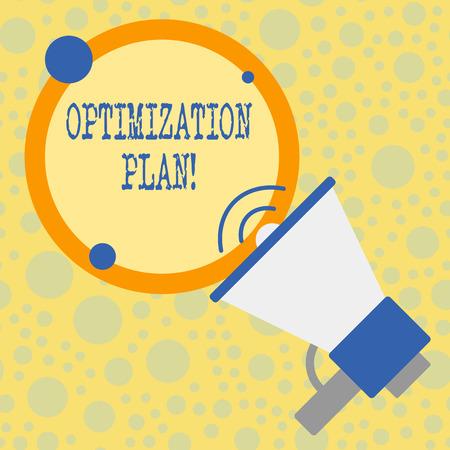 Signe texte montrant le plan d'optimisation. Texte photo d'entreprise Trouver une alternative avec le plus rentable Banque d'images