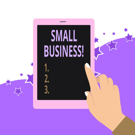 Handwriting text Small Business. Conceptual photo privately owned corporations that has less employees 写真素材