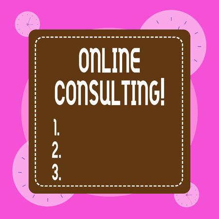 Conceptual hand writing showing Online Consulting. Concept meaning get information or advice from a demonstrating through internet