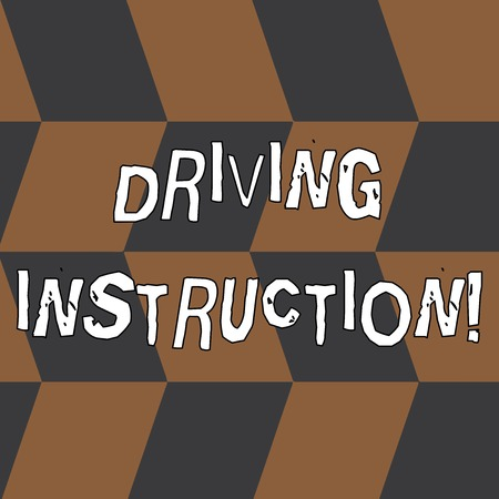 Word writing text Driving Instruction. Business photo showcasing detailed information on how driving should be done Seamless Slanting Squares in Brown and Gray Alternate Color Creating Depth