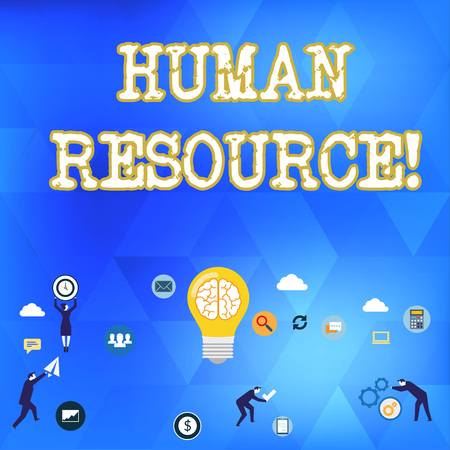 Handwriting text Huanalysis Resource. Conceptual photo the process of hiring and developing employees Business Digital Marketing Symbol, Element, Campaign and Concept Flat Icons Stockfoto