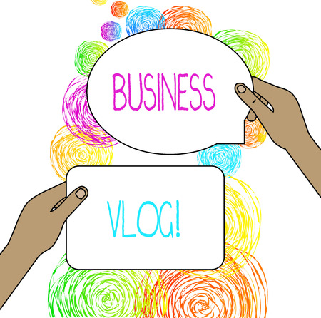 Conceptual hand writing showing Business Vlog. Concept meaning A video content about subject matter related to the company