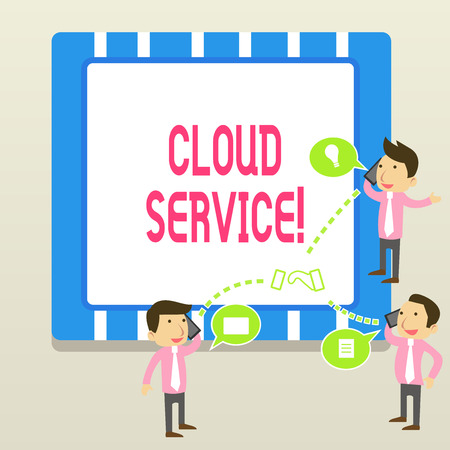 Word writing text Cloud Service. Business photo showcasing refers to variety of resources provided over the internet